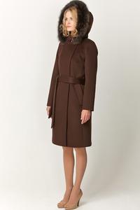 Зимнее пальто из шерсти и кашемира арт.702